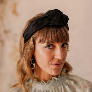 Knotted Silk Headband 'Beatrix' In Many Colours