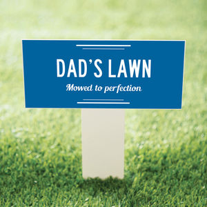 Garden Stake For Dad's Lawn - new in garden