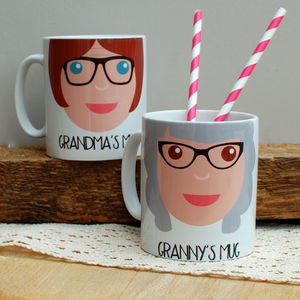 Personalised Grandma Gift Mug - gifts for grandparents