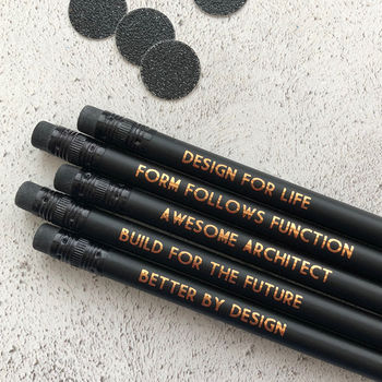 Funny Architect Pencil Set: Form Follows Function