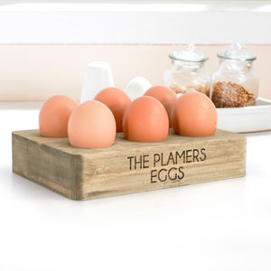 Personalised Half Dozen Egg Holder - dining room
