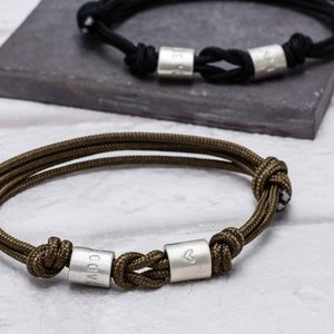 Personalised Men's Loveknot Bead Bracelet - bracelets
