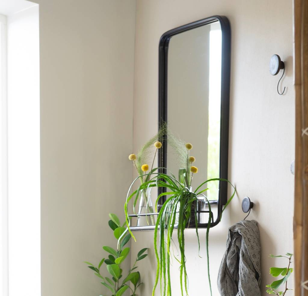 Large Industrial Wall Mirror With Mini Shelf By The Forest Co Notonthehighstreet Com