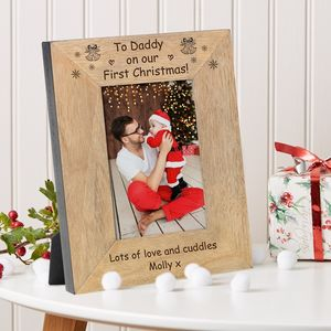 To Daddy On Our First Christmas Frame