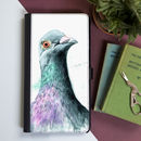 Inky Pigeon Flip Phone Case With Card Slots