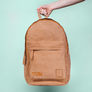 Personalised Suede Classic Backpack/Rucksack - men's accessories