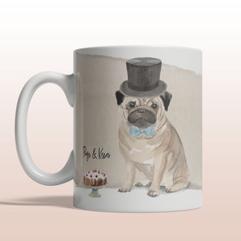 Pugs And Kisses Personalised Mug