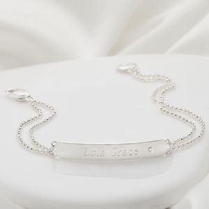 Personalised Childs My First Diamond Bracelet