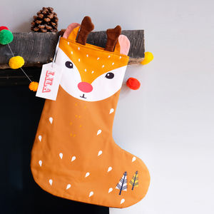 Personalised Animal Character Christmas Stocking
