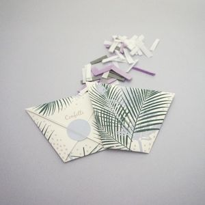 Botanical Packet Confetti - new in wedding styling