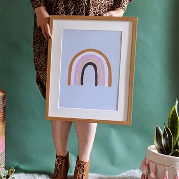 Boho Rainboow Illustrated Art Print