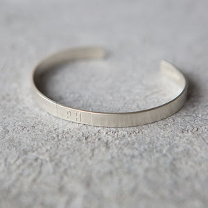 Personalised Sterling Silver Initials Or Date Bangle - gifts for mothers