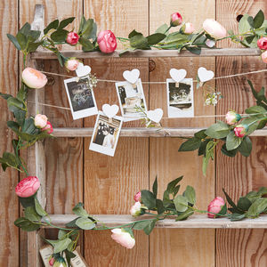 Pink Rose Flower Garland Wedding Party Decorations