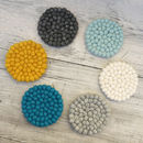 Fair Trade Handmade Eco Felt Ball Coaster