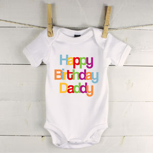 Happy Birthday Babygrow - clothing