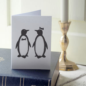 Penguin Pair Card - shop by occasion