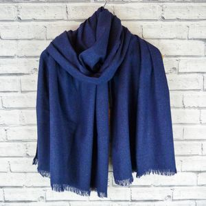 Oversized Frayed Scarf - scarves