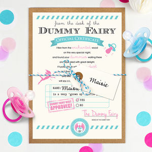 Personalised Dummy Fairy Certificate