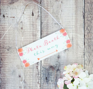 Personalised Spring Wedding Arrow Sign - art & decorations