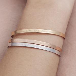 Personalised Flat Bangle - shop by occasion