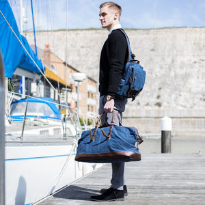 Canvas Holdall And Backpack