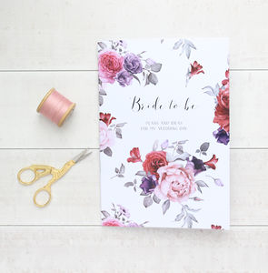 Moonlight Garden Bride To Be Wedding Notebook Planner