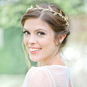 Cassandra Gold Hair Vine - bridal hairpieces