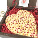 Large White Chocolate Heart Gluten Free Gift