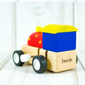 Personalised Clockwork Wood Toy Train - traditional toys & games