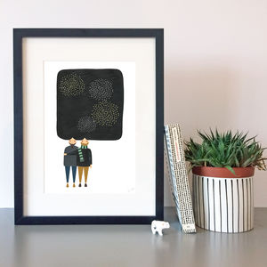 Fireworks Print - drawings & illustrations