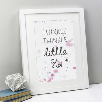 'Twinkle Twinkle Little Star' Nursery Print