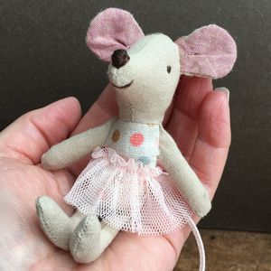 Ballerina Mouse In Matchbox - toys & games