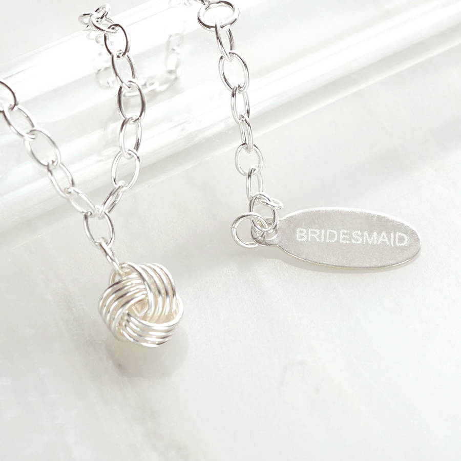 Personalised Bridesmaid Knot Bracelet