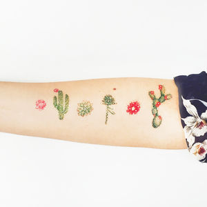 Cactus Two Festival Temporary Tattoos - temporary tattoos