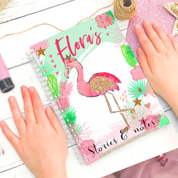 Personalised Flamingo Notebook Gift