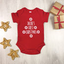 Personalised Scandi Style First Christmas Babygrow
