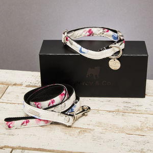 The Disley Floral Dog Collar And Lead Set - dog collars