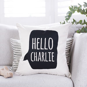 Personalised Speech Bubble Nursery Cushion - personalised cushions
