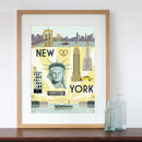 New York City Retro Travel Poster Style Art Print