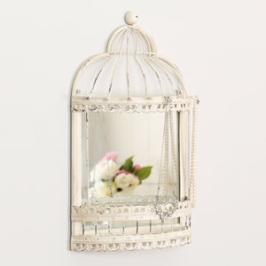 Vintage Parisian Bird Cage Mirror - home accessories