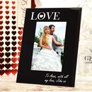 Personalised Love Photo Frame Glass Valentines Day