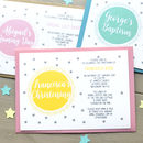 Personalised Christening Or Naming Day Invitations