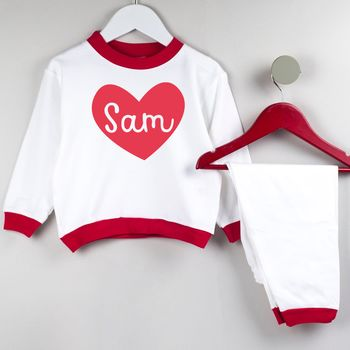 Love Heart Personalised Pyjamas