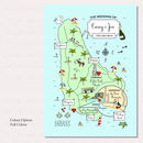 Illustrated Map Party Or Wedding Invitation