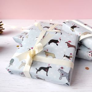 Dog Christmas Wrapping Paper - wrapping