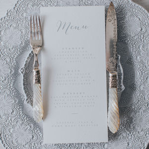 Bliss Menu Card
