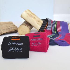 Personalised Ski Socks - festive socks