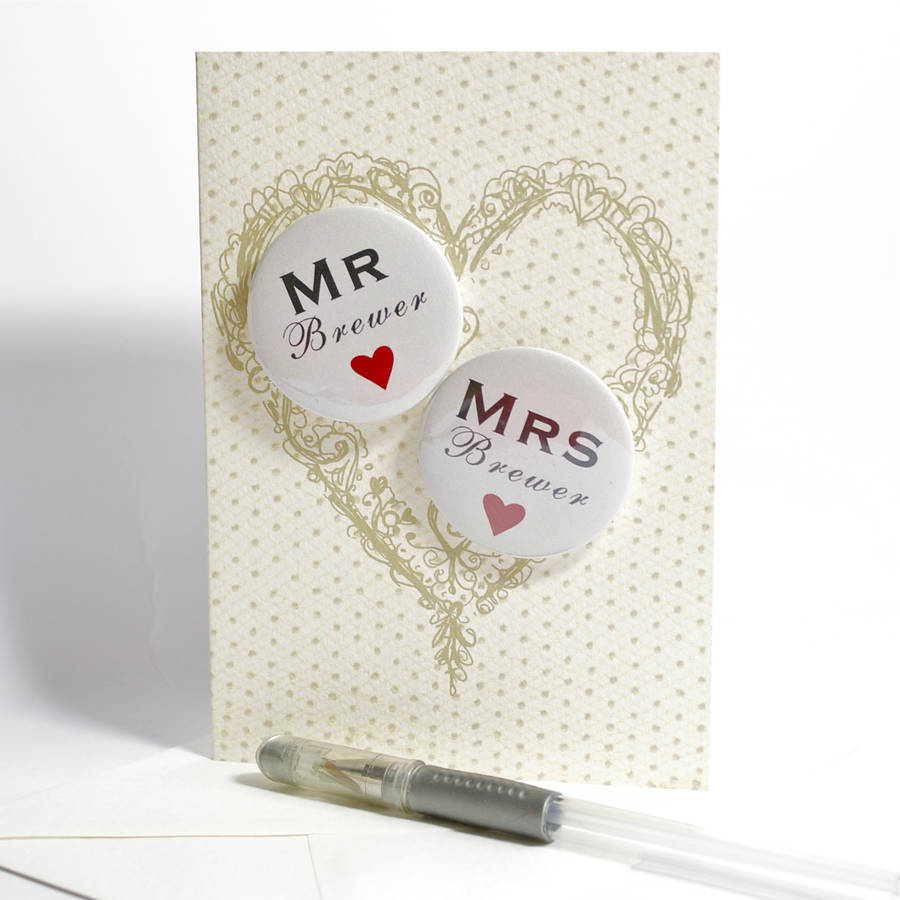 personalised mini magnets wedding card by bedcrumb