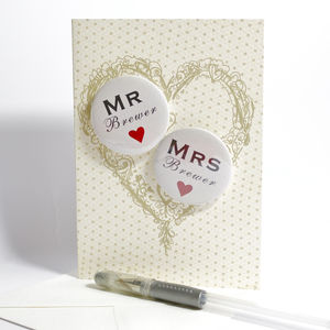 Personalised Mini Magnets Wedding Card - last-minute wedding cards