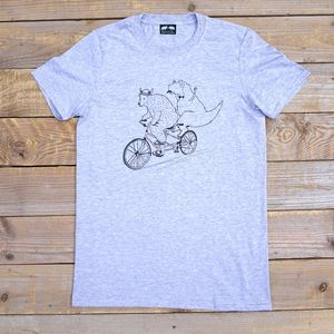 Bear And Dinosaur Tandem T Shirt